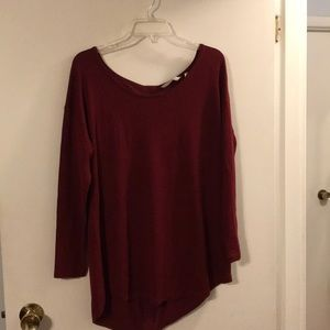 Soft surroundings wine color sweater